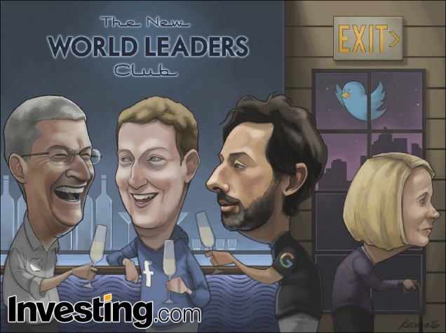 Apple, Google e Facebook conquistano il mondo mentre Yahoo e Twitter vengono messi fuori
