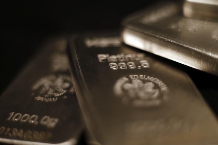 © Reuters.  I futures del platino scendono vicino al minimo di 7 anni