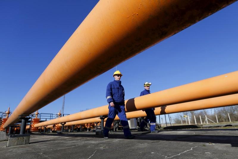 © Reuters.  Futures gas alam lebih rendah pada masa dagang AS