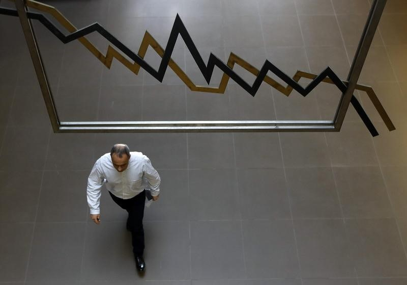 © Reuters. Greece stocks lower at close of trade; Athens General-Composite down 0.27%