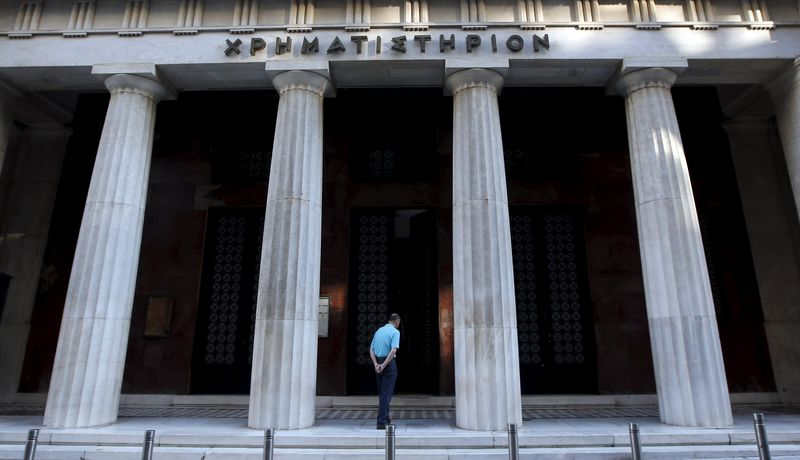 © Reuters. Greece stocks higher at close of trade; Athens General-Composite up 0.01%