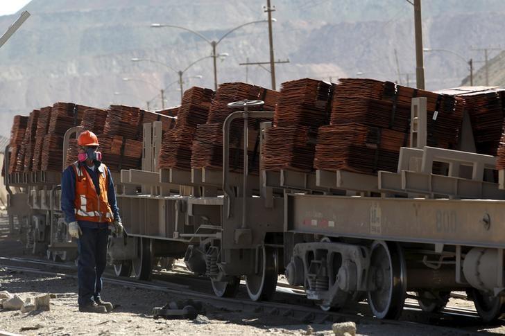 © Reuters.  Il prezzo del rame sale al massimo di una settimana dopo la decisione di Glencore