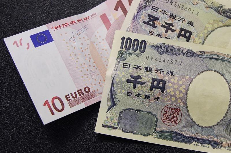 Форекс - Курс EUR/JPY снизился во время азиатских торгов