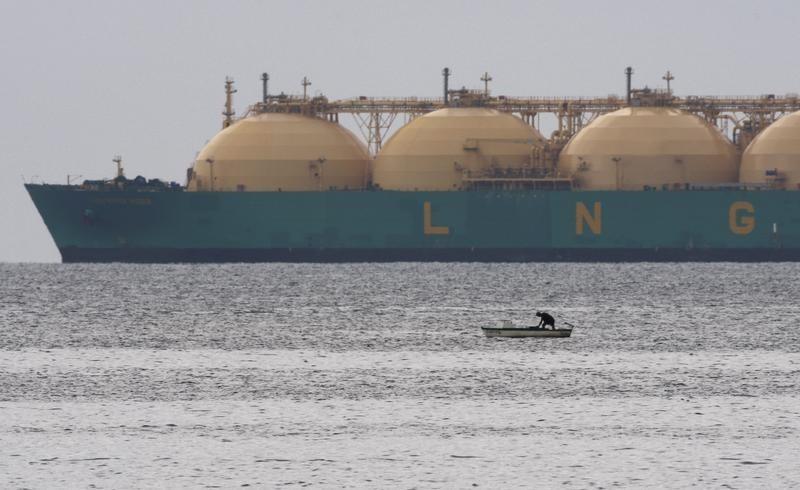 © Reuters.  Futures gas alam lebih rendah selama sesi Eropa