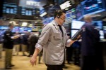 Shares flat on earnings, oil jumps on Middle East worry