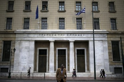Greek central bank head sees primary surplus at 1.3 percent of GDP: report