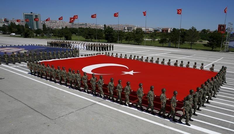 © Reuters. Военный парад в Анкаре