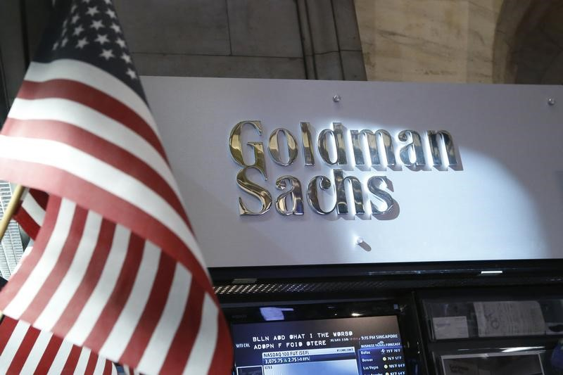 © Reuters. A view of the Goldman Sachs stall on the floor of the New York Stock Exchange