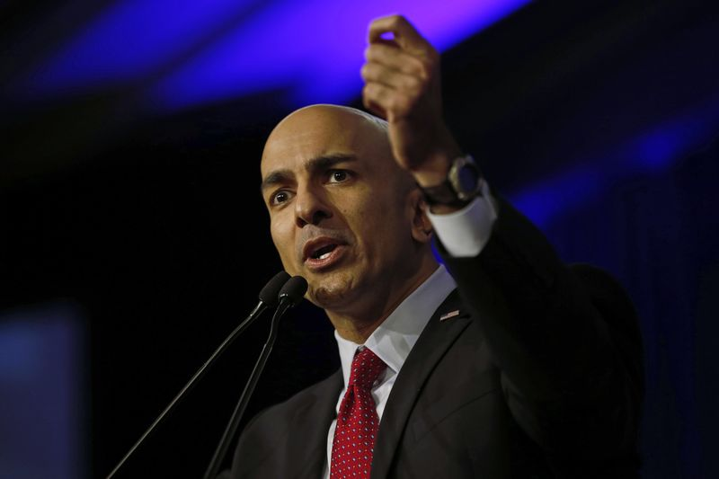 © Reuters. File photo of Kashkari speaking on stage during Republican convention in Burlingame, California